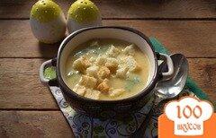 Фото рецепта: «Гороховый суп-пюре с гренками»