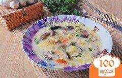 Фото рецепта: «Гречневый суп с опятами и сливками»