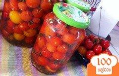 Фото рецепта: «Маринованные помидоры черри с перцем»