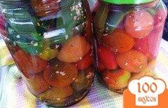 Фото рецепта: «Маринованные помидоры с зеленым прцем»