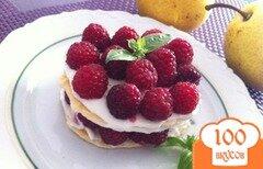 Фото рецепта: «Пирожное с малиной»