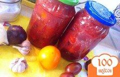 Фото рецепта: «Помидоры черри в томатной заливке с болгарским перцем»