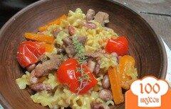 Фото рецепта: «Телятина в макаронах с фасолью»