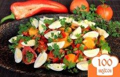 Фото рецепта: «Салат из помидор и перепелиных яиц»
