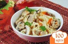 Фото рецепта: «Спагетти в соусе из свинины»