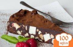 Фото рецепта: «Ленивый шоколадный торт с печеньем»
