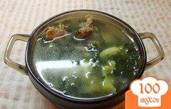 Фото рецепта: «Шпинатовый суп с куриными желудочками»