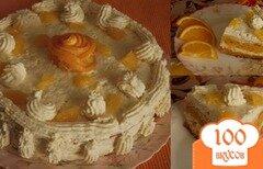 Фото рецепта: «Морковный торт с творожным кремом»
