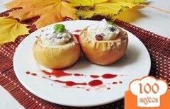 Фото рецепта: «Яблоки запеченные с рисом и изюмом»