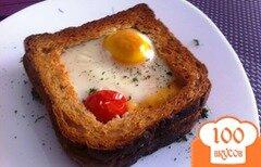 Фото рецепта: «Сэндвич с яичницей из духовки»
