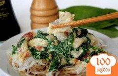 Фото рецепта: «Морской окунь с фунчезой и шпинатом.»