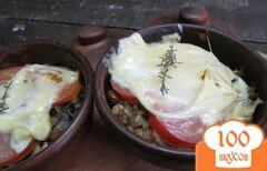 Фото рецепта: «Запеченная капуста с рисом и грибами»