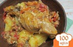 Фото рецепта: «Куриные ножки с перцем и яйцом в мультиварке»