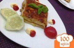 Фото рецепта: «Горячий конвертик на завтрак»