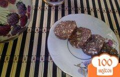 Фото рецепта: «Шоколадная «колбаска» с кунжутом»