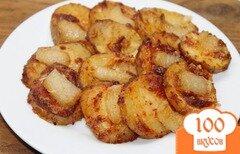 Фото рецепта: «Картофель запеченный с аджикой и салом»