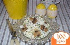 Фото рецепта: «Осенний салат с редькой и грибами»
