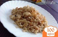 Фото рецепта: «Пряный жареный рис на гарнир»