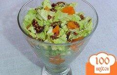Фото рецепта: «Салат из пекинской капусты с мандаринами»