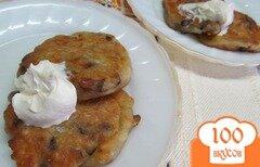 Фото рецепта: «Оладьи с грибами и сыром»