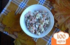 Фото рецепта: «Салат с морковью и горошком»