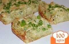 Фото рецепта: «Картофельная запеканка со свежим зеленым горошком»