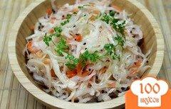Фото рецепта: «Капуста квашенная с морковкой и черным тмином»