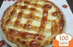 Фото рецепта: «Пирог с яблоками и творогом»