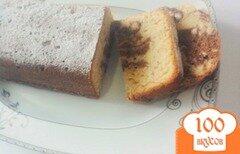 Фото рецепта: «Двухцветный кекс с обжаренным фундуком»