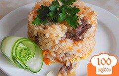 Фото рецепта: «Куриные сердечки с рисом в мультиварке»