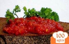 Фото рецепта: «Аджика с зеленью и яблоком»