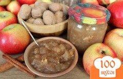 Фото рецепта: «Яблочное повидло с корицей и грецким орехом»