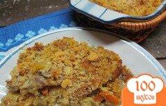Фото рецепта: «Запеканка со свининой овощами и вермишелью под грибным соусом»