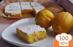 Фото рецепта: «Lemon bars/ Лимонные пирожные»