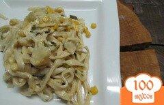 Фото рецепта: «Паста лингвини под овощным соусом»