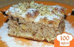 Фото рецепта: «Ореховый пирог на сметане»
