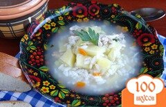 Фото рецепта: «Рисовый суп в мультиварке»