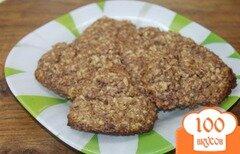 Фото рецепта: «Овсяное печенье с какао и цедрой апельсина»