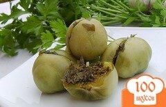 Фото рецепта: «Зеленые помидоры на зиму по-грузински»