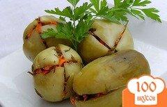 Фото рецепта: «Квашеные зеленые помидоры»