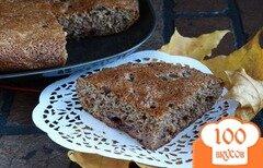 Фото рецепта: «Сливовая шарлотка с какао»