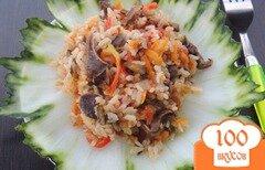 Фото рецепта: «Рис с желудочками и овощами»