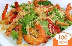Фото рецепта: «Цезарь с креветками»
