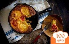 Фото рецепта: «Пирог с помидорами и сыром»