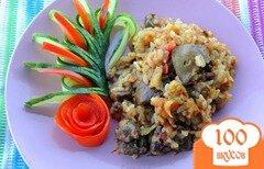 Фото рецепта: «Рис с печенью и овощами»