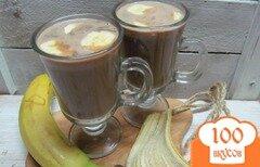 Фото рецепта: «Теплый банановый коктейль с шоколадом»