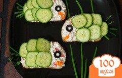 "Фото рецепта: «Крабовые бутерброды ""Рыбки""»"