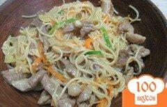 Фото рецепта: «Быстрая лапша со свининой и имбирем»