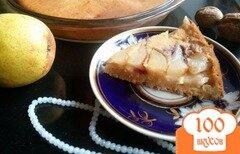 Фото рецепта: «Пирог с грушей на ряженке»