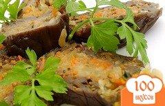 Фото рецепта: «Баклажаны квашеные, фаршированные капустой и морковью»